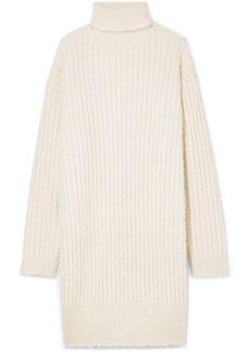 Givenchy Oversized Ribbed-knit Turtleneck Mini Dress