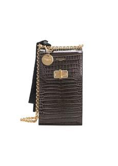 Givenchy Catena Snakeskin-Embossed Leather Crossbody Phone Case