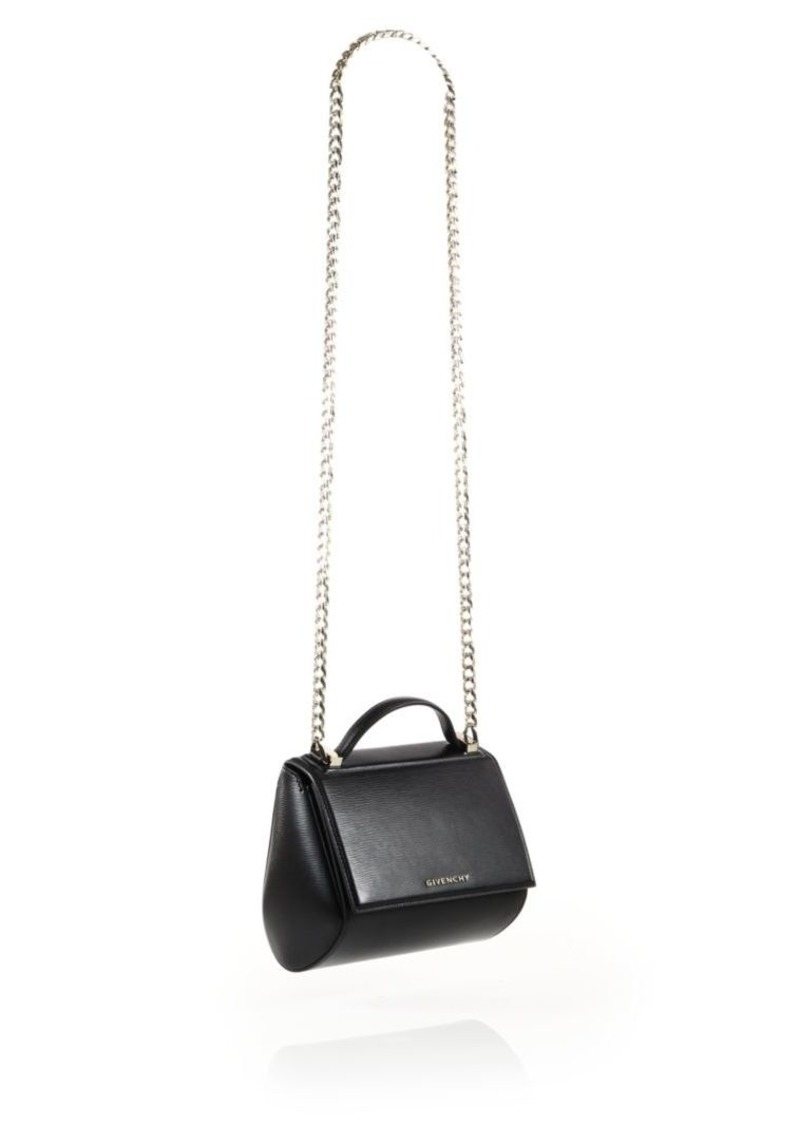 405091323c Givenchy Pandora Box Mini Leather Chain Crossbody Bag