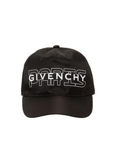 Givenchy Paris Logo Printed Techno Baseball Cap