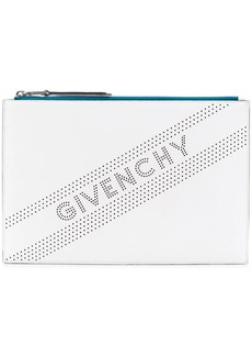 Givenchy perforated logo medium clutch bag