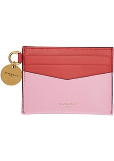 Givenchy Pink & Red Edge Card Holder