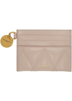 Givenchy Pink GV3 Quilted Card Holder