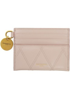Givenchy Pink Quilted Charm Card Holder