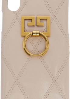 Givenchy Pink Quilted GV3 iPhone X Case