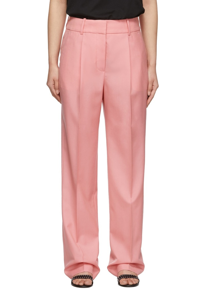 Givenchy Pink Wool Flamingo Masculine-Fit Trousers