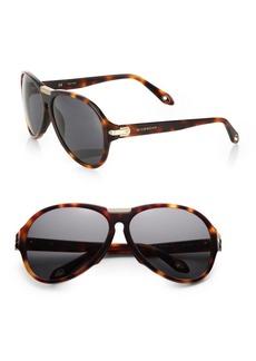 Givenchy Plastic Aviator Sunglasses