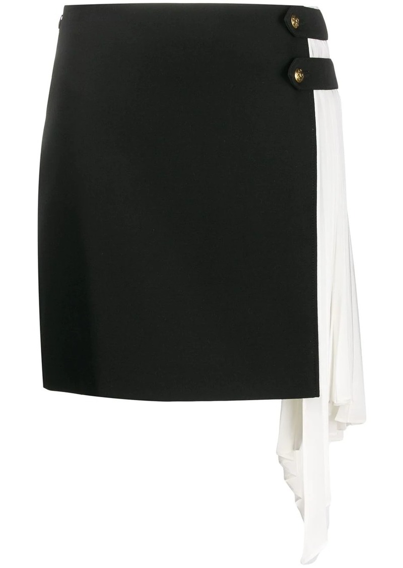 Givenchy pleated godet mini skirt