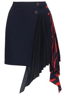 Givenchy pleated Godet mini skirt