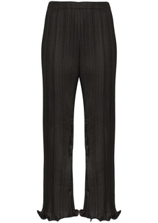 Givenchy pleated ruffle-hem trousers