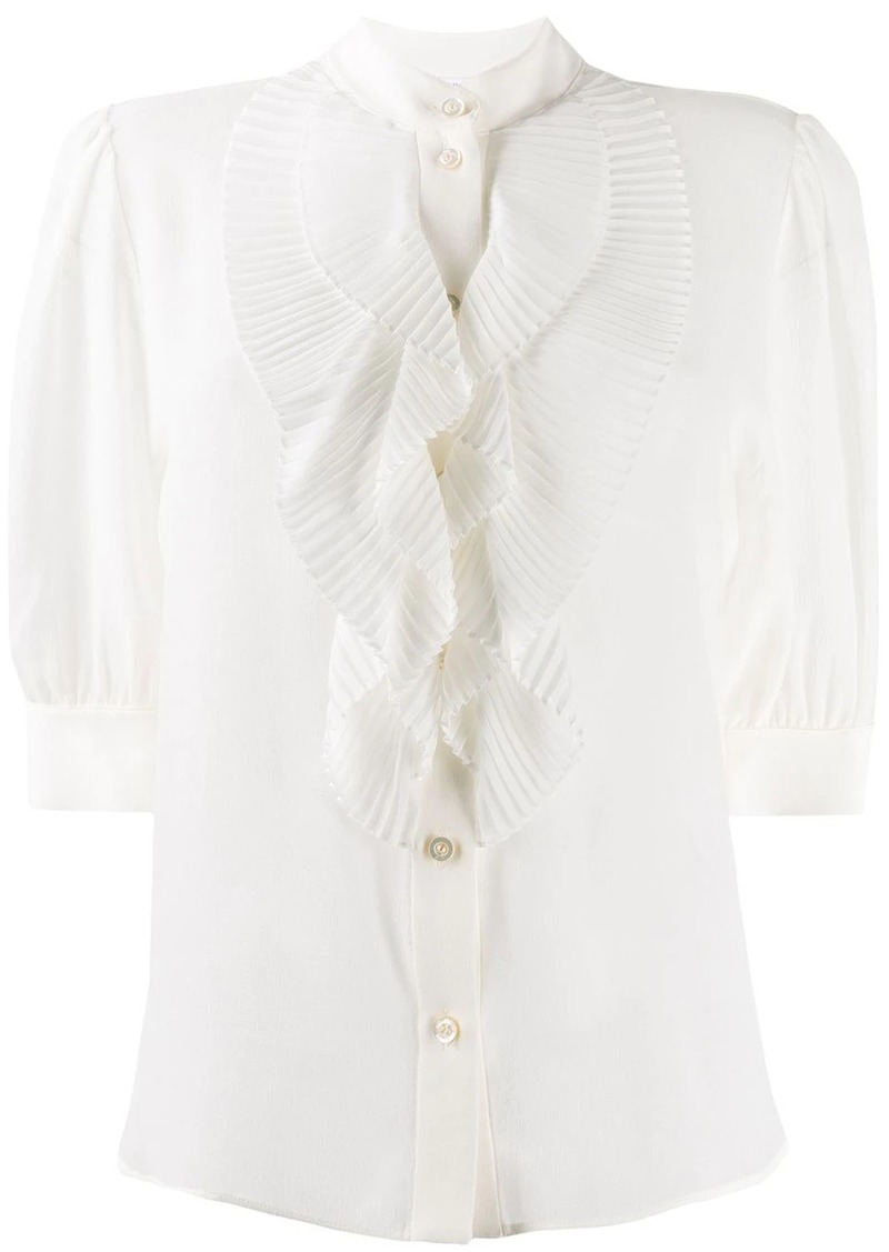 Givenchy pleated ruffle shirt