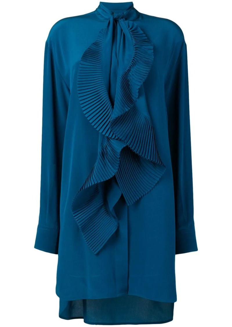 Givenchy pleated scarf shirt dress