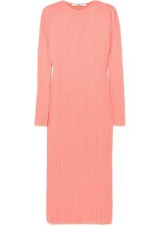 Givenchy Plissé-crepe Midi Dress