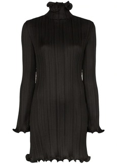 Givenchy plissé ruffle-trim dress