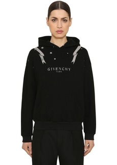 Givenchy Printed Cotton Jersey Sweatshirt Hoodie