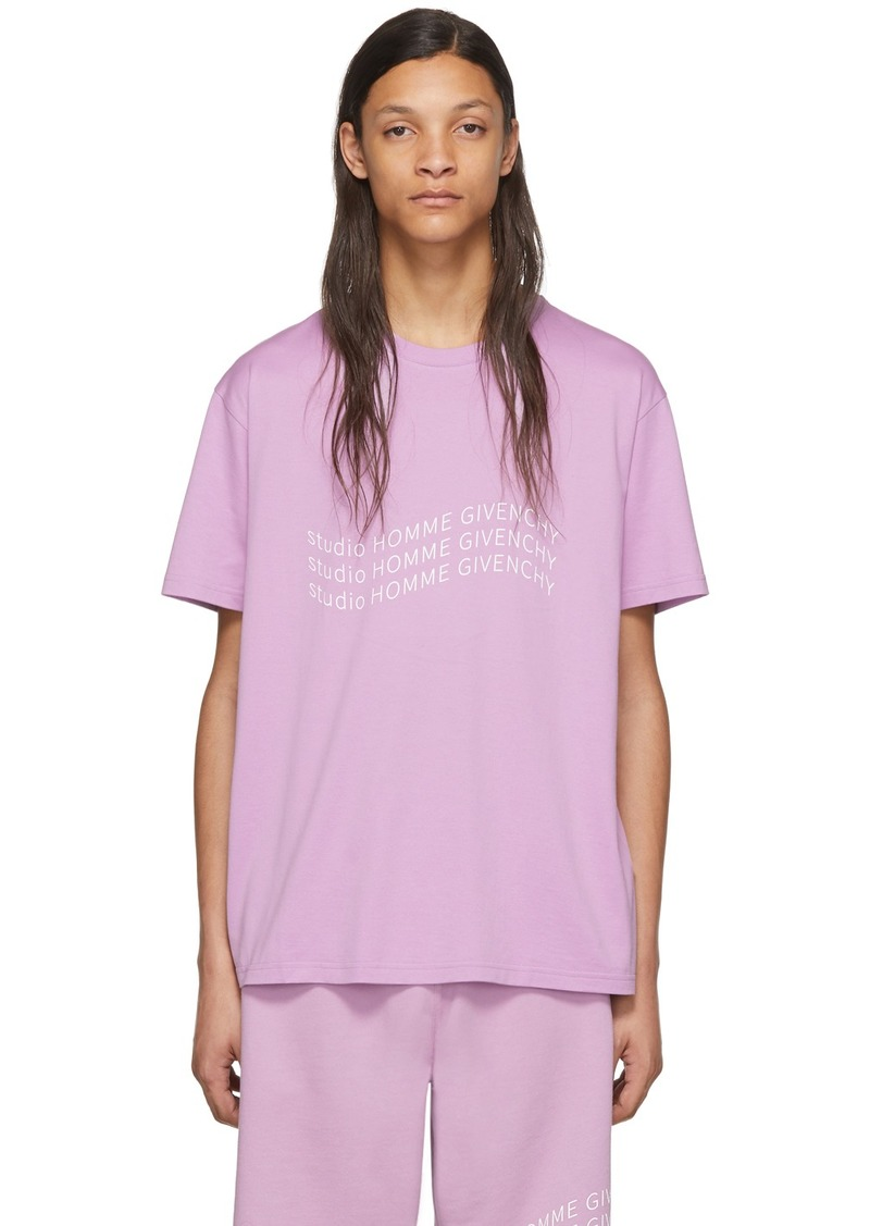 Givenchy Purple Logo Wave T-Shirt