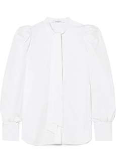 Givenchy Pussy-bow Cotton-poplin Blouse