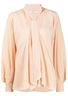 Givenchy pussycat bow long-sleeved blouse
