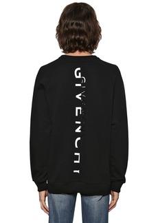 Givenchy Raglan Logo Split Reflective Sweatshirt