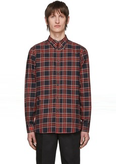 Givenchy Red & Black Check Piercing Shirt
