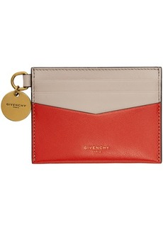 Givenchy Red & Pink Edge Card Holder