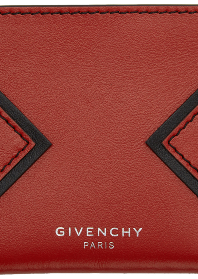 Givenchy Red V Shape Cut Card Holder