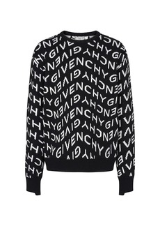 Givenchy Refracted Logo Jacquard Crewneck Sweater