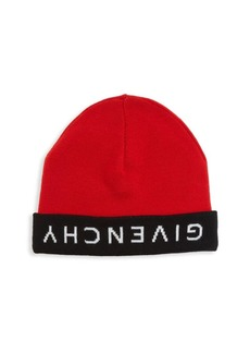 Givenchy Reversible Logo Wool Beanie