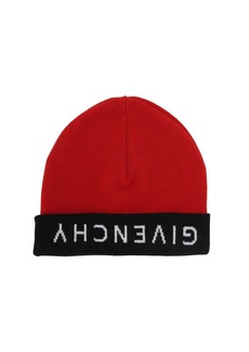 Givenchy Reversible Wool Knit Logo Beanie