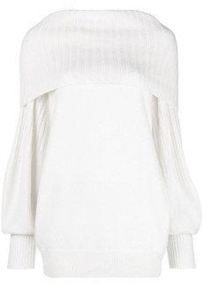 Givenchy ribbed-collar fitted sweater