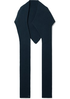 Givenchy Ribbed Wool And Cashmere-blend Scarf