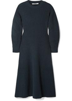 Givenchy Ribbed Wool-blend Midi Dress