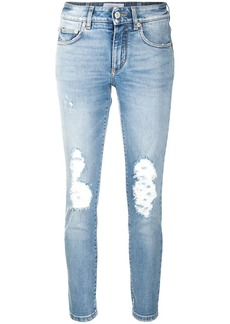Givenchy ripped mid-rise skinny jeans