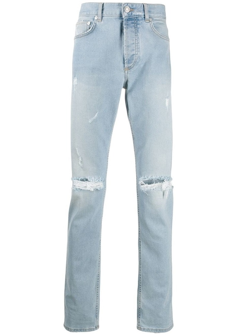 Givenchy ripped straight jeans