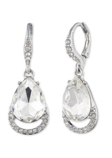 Givenchy Rose Gold and Silk Crystal Drop Earring