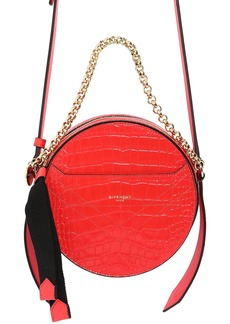 Givenchy Round Eden Croc Embossed Leather Bag
