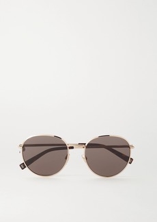Givenchy Round-frame Gold-tone Sunglasses