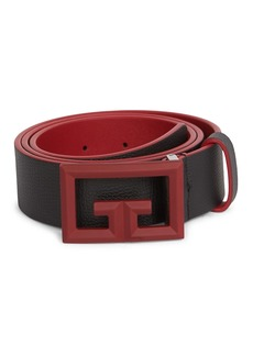 Givenchy Rubber 2G Buckle Leather Belt