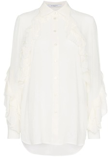 Givenchy ruffle button down shirt
