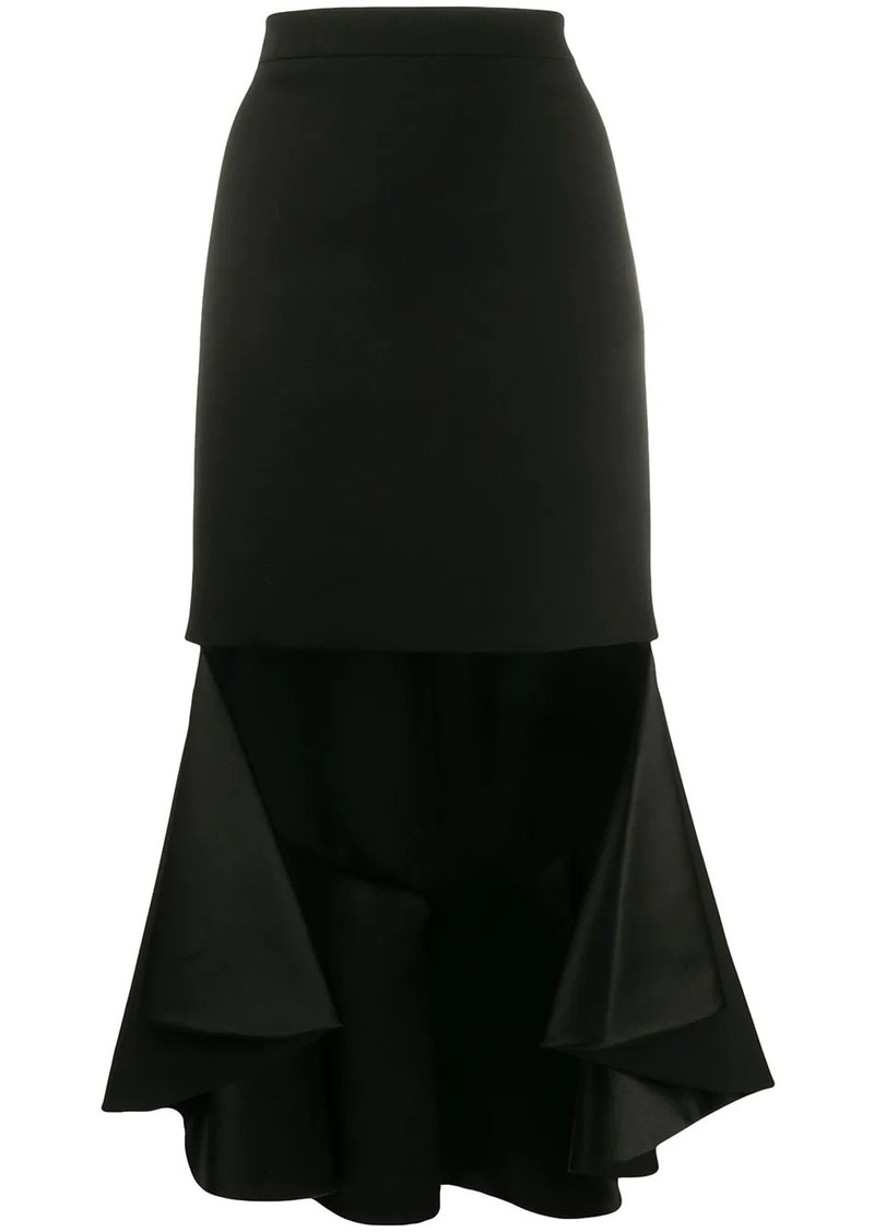 Givenchy ruffled asymmetric skirt