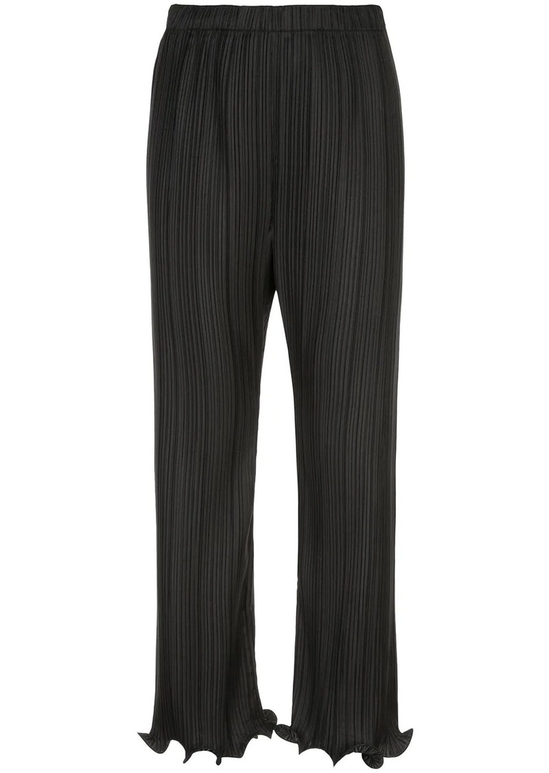 Givenchy ruffled pleated trousers