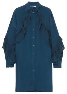 Givenchy Ruffled Silk Crepe De Chine Tunic