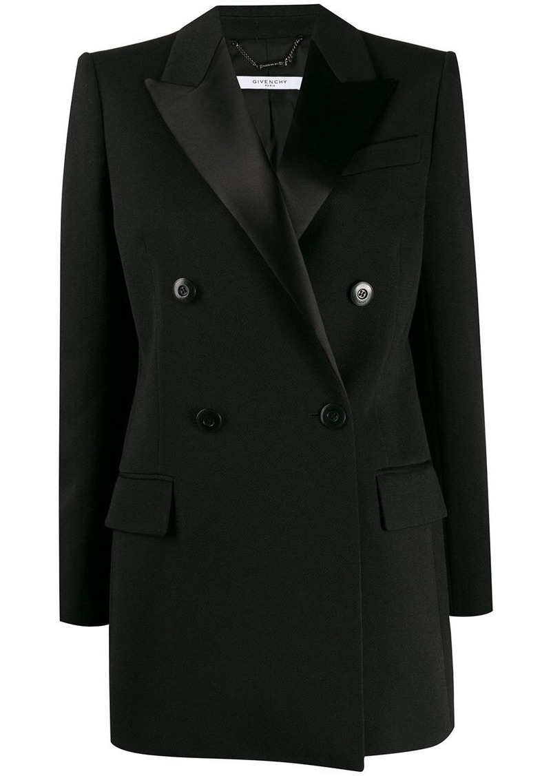 Givenchy satin lapels double-breasted blazer