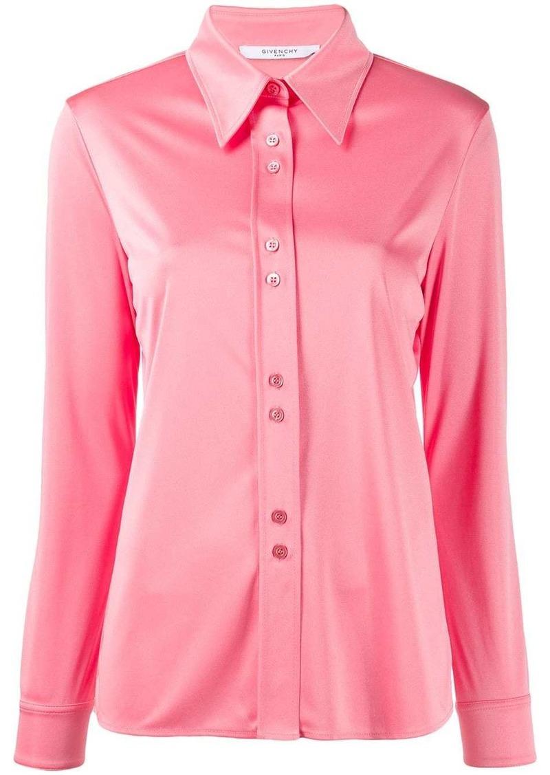 Givenchy satin pointed collar shirt
