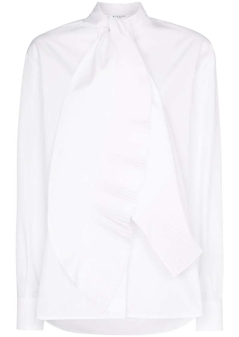 Givenchy scarf-neck poplin blouse
