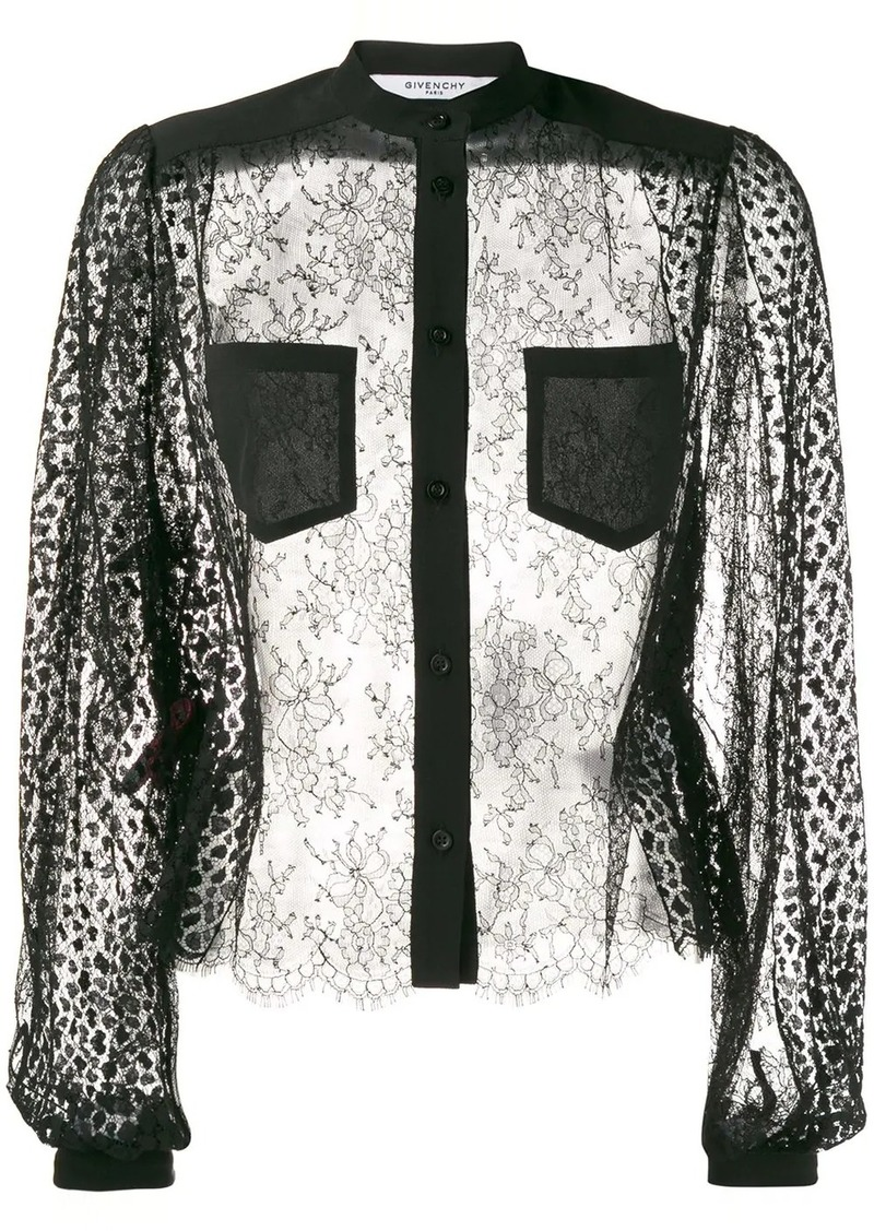 Givenchy sheer blouse