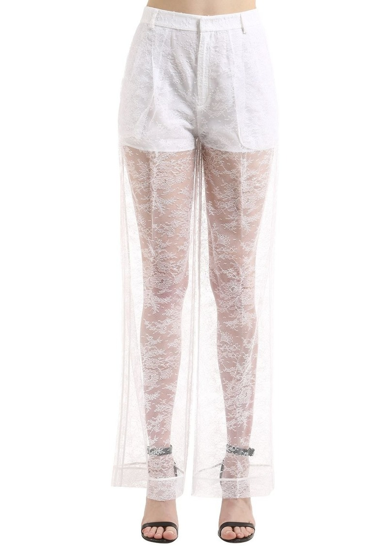 1acc7291edee Givenchy Sheer Lace Wide Leg Pants Now  1