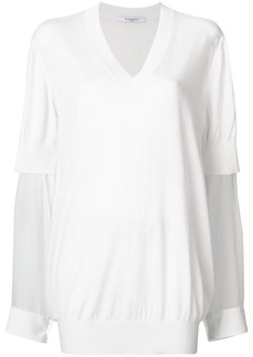 Givenchy sheer sleeve sweater