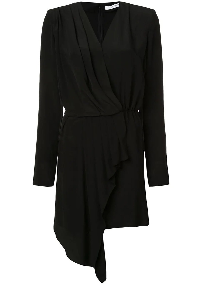 Givenchy short draped wrap dress