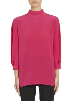 Givenchy Silk Georgette Long-Sleeve Blouse